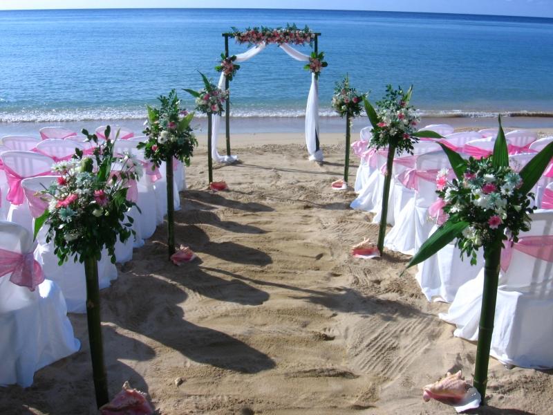An Adver For A Beach Wedding