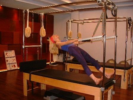Elizabeth Larkam demonstrating one of the moves
