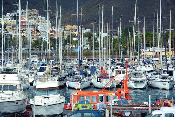 Teilansicht des Hafens in San Sebastián.