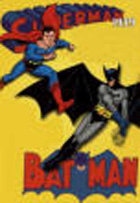 Classic superheroes  on display at the Comic Fair in Santa Cruz