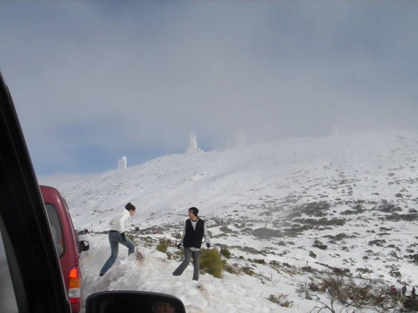 Heavy snowfall in Las Cañadas has helped to replenish water supplies on the island of Tenerife