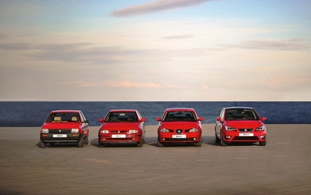 Four generations of the SEAT Ibiza