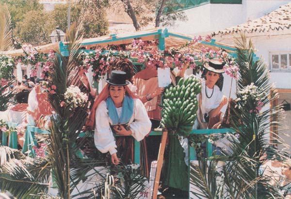 The streets of La Laguna are awash with colourful costume in the San Benito festivals