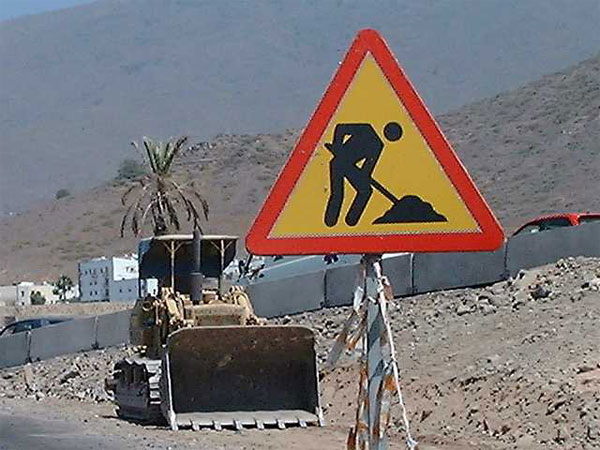 Essential road works are being carried out in the south