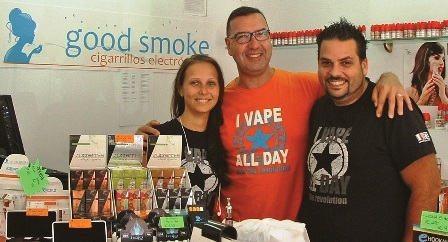 Ivaldo (centre) and the friendly staff
