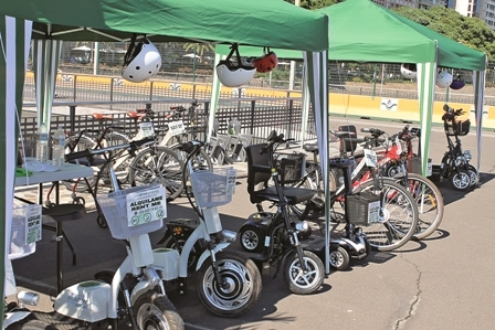 EcoDrive's vehicles available to rent at the port's passenger terminal