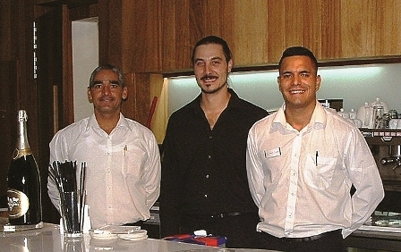 Our hosts for the evening (l-r) Jesus, José and Jonnie