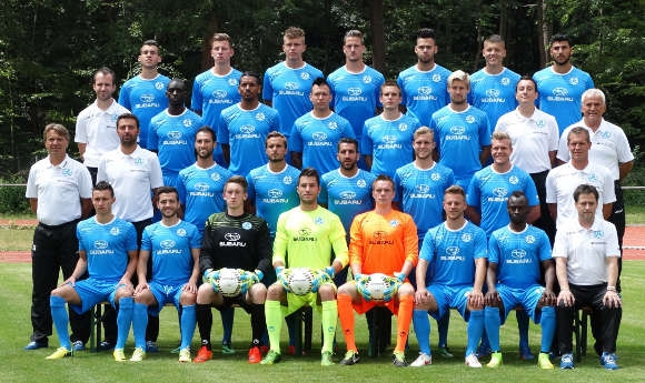 Die gesamte Mannschaft der Stuttgarter Kickers.