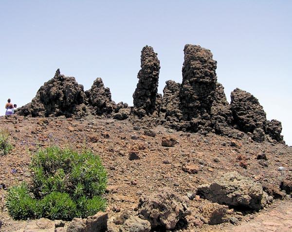 Felsengruppe auf der  Kuppe des Roque de los Muchachos