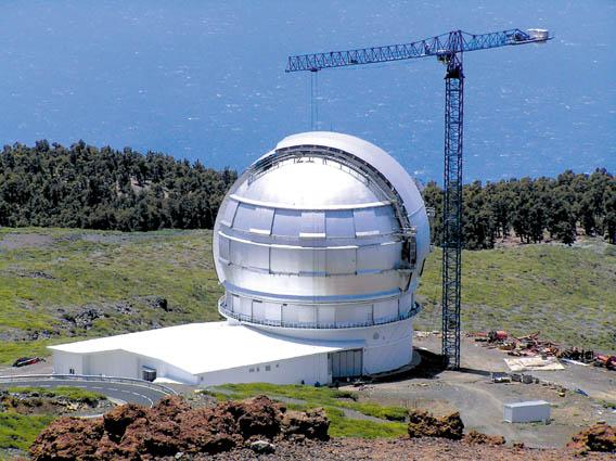 Das größte Teleskop der Welt steht auf dem Dach von La Palma