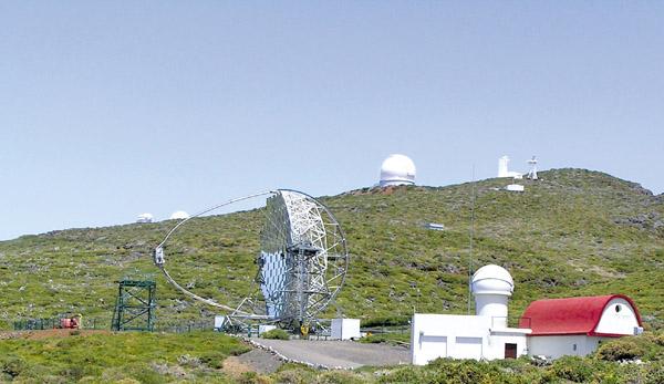 Das Teleskop MAGIC  wurde in Zusammenarbeit mit deutschen Firmen errichtet