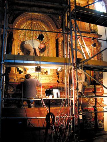 Restaurierung eines Altars