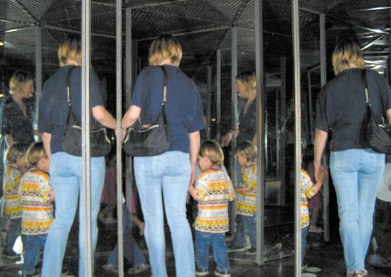 Rätselhaftes Spiegellabyrinth