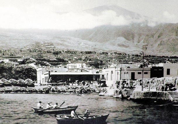 Der Hafen von Puerto de la Cruz vor einem guten Jahrhundert