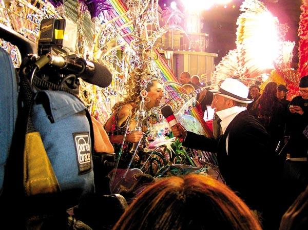 Die Karnevalskönigin des Jahres 2005 kurz nach der Wahl