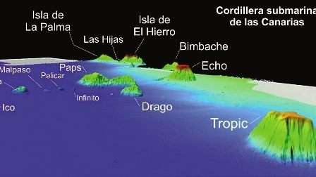 The new islands have been discovered to the south west of the Canaries
