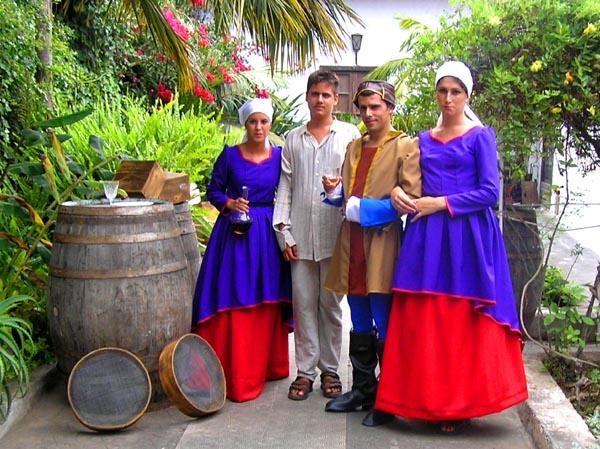 Der Eroberer de Lugo und Gesinde auf dem Gut des Adelantado
