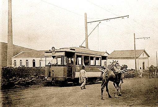 Teneriffas erste Straßenbahn zu Beginn des vorigen Jahrhunderts