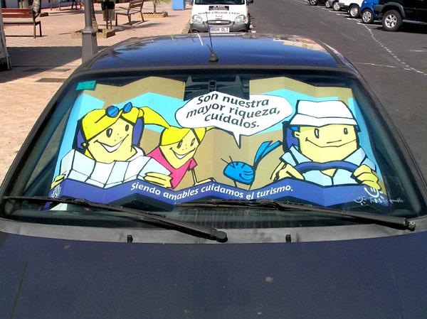 Werbemittel: Autosonnenschutz