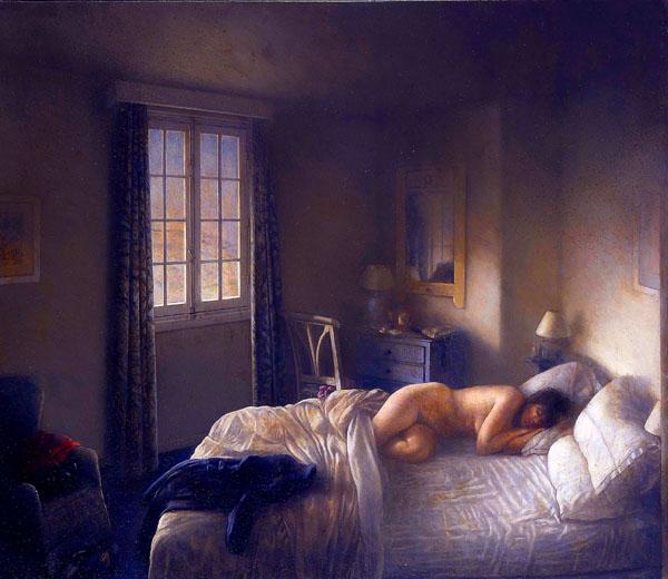 Schlafende Frau von Cristóbal Toral