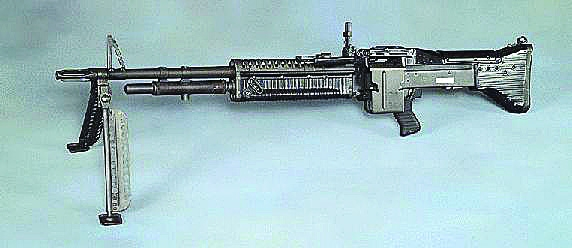 Even heavy weapons such as machine guns were found during the operation