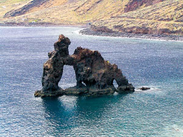 Die Felsskulptur