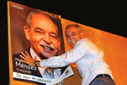 Miguel Ángel Méndez has been fully active during the hottest phase of the election campaign