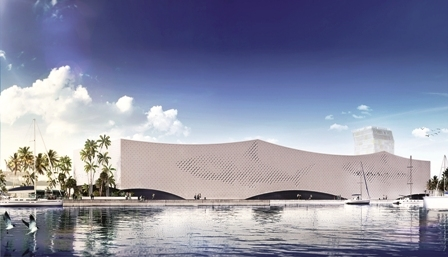 The design for the exterior of the new mega-Aquarium