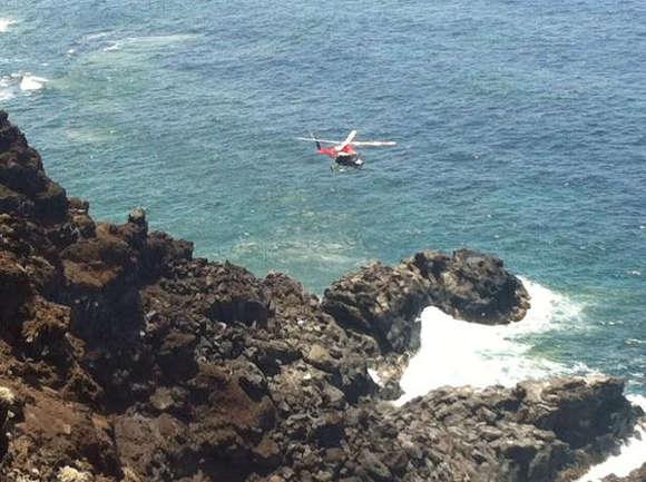 Vor allem durch die charakteristische Steilküste war der Einsatz schwierig.