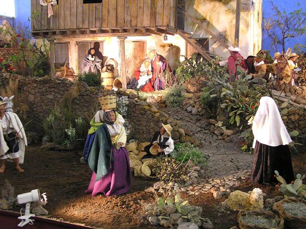 Szene aus der gro�en Weihnachtskrippe im Inselpalast im Jahr 2005