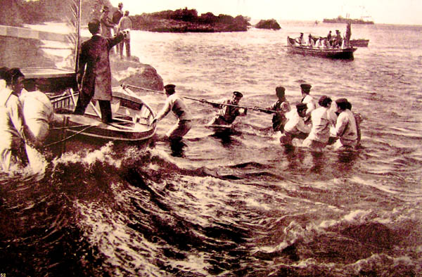 Ankunft des Königs auf El Hierro im Jahre 1906