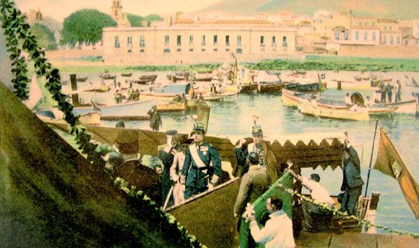 Ankunft des Königs auf Teneriffa im Jahre 1906