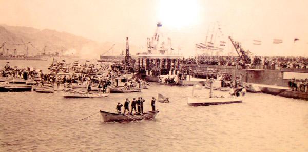 Der Hafen von Santa Cruz im Jahre 1906