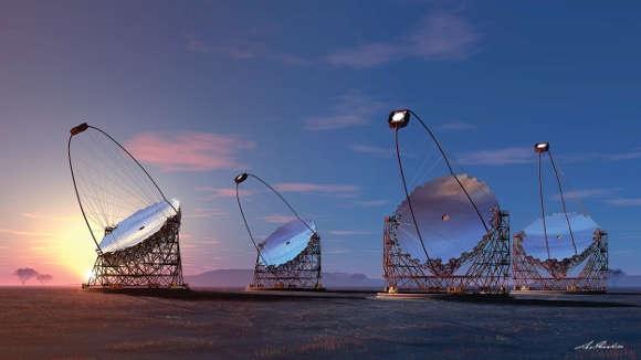 Projektansicht des Konsortiums der Cherenkov-Teleskope, CTA.