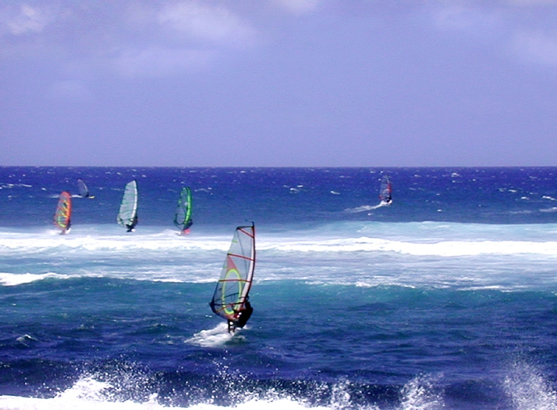 The east coast of Gran Canaria is well known as a windsurfers' paradise