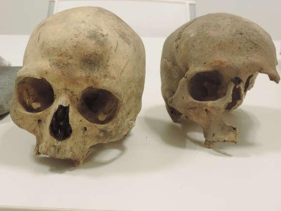 Archäologischer Fund: Prähispanische Überreste eines Paares.
