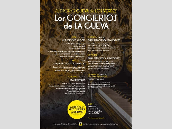 Höhlenkonzert am 3. Oktober in der Cueva de los Verdes.