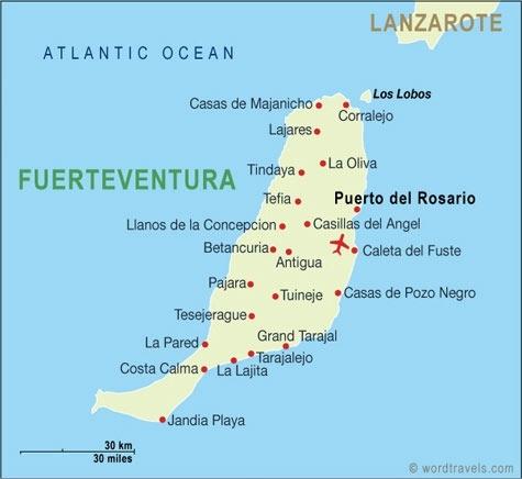 Die benachbarten Inseln.
