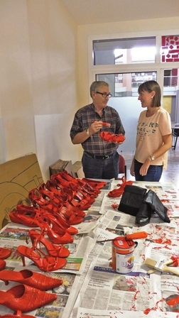 Red shoes are a symbol of the pain of losing women through violence