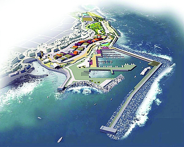 Designs for the planned marina in Puerto de La Cruz, one of the area's vital projects