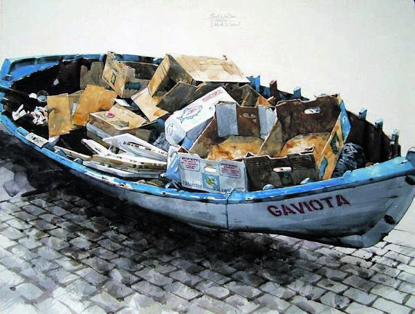 So gesehen, so gemalt - dieses Bild beweist, dass auch Müll Charme haben kann