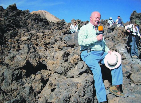 Wer rastet, wird interviewt (Inselpräsident Ricardo Melchior)
