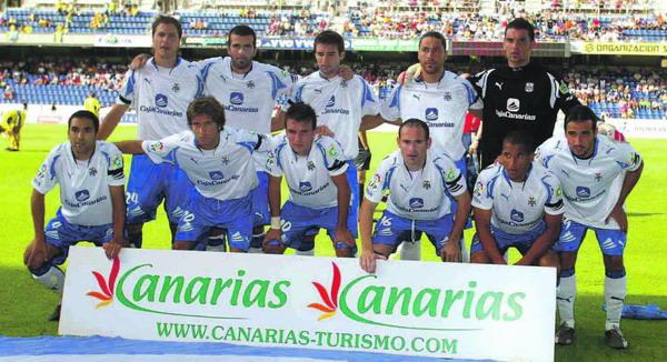 Die Mannschaft des CD Tenerife in der laufenden Saison