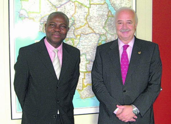 Der Inselpräsident zusammen mit Gilbert Houngbo in New York