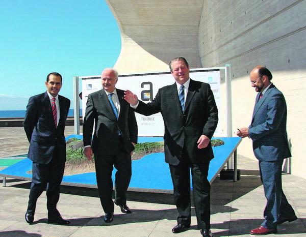 Ricardo Melchior und Al Gore lernten sich auf dem Treffen zum Klimawandel auf Teneriffa kennen