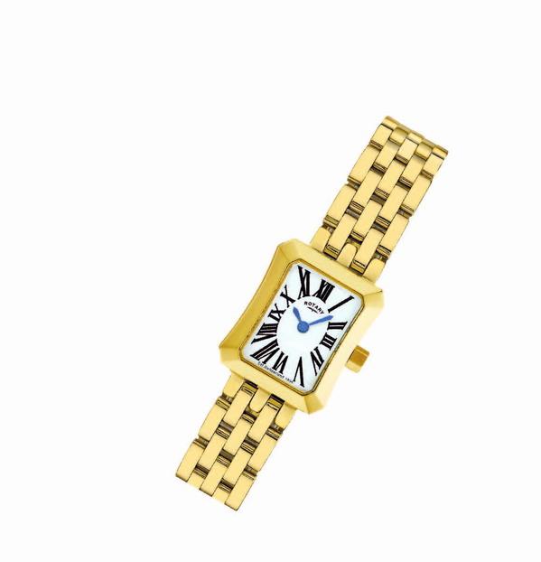 Edel: Designer-Uhr mit rechteckigem Zifferblatt