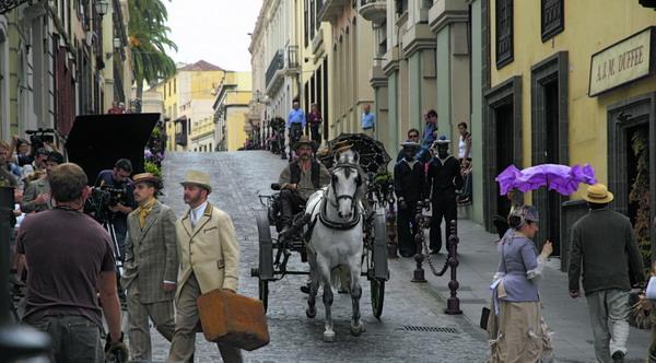 La Orotava erlebte eine Zeitreise und verwandelte sich in eine amerikanische Geschäftsstraße des 19. Jahrhunderts.