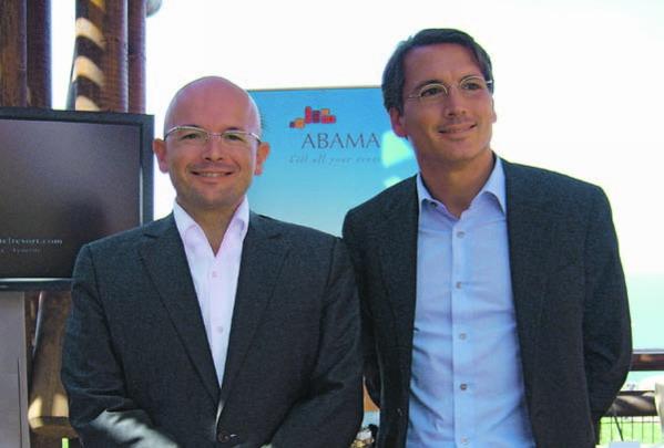 Pep Lozano (links), der neue Generaldirektor des Abamas und Victor Clavell, Vize-Präsident der Ritz-Carltons Gruppe Südeuropas