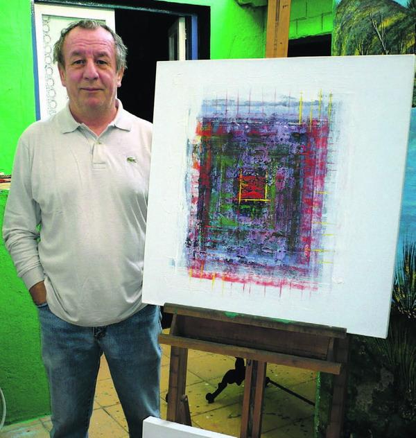 Chico stellt seine Gemälde auch in seiner Heimat Italien aus