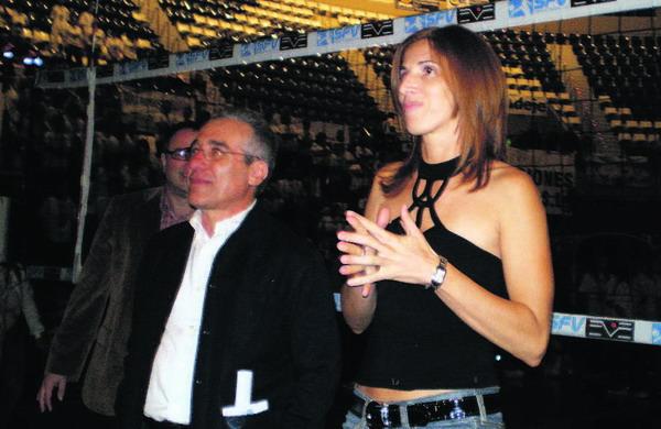 Goya Dorta bei ihrem Abschied vom Volleyball-Club Spar Tenerife Marichal